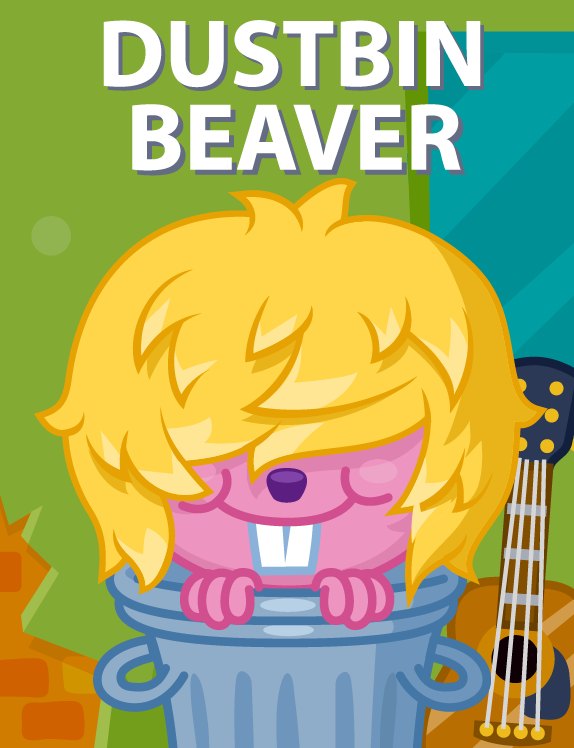 moshi-monsters dustbin beaver