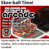 ESPNU College Town: ESPN Arcade Skeeball brings Carniball to school