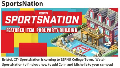 ESPNU SportsNation Pool Party
