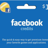 Facebook Credits Gift Cards available in GameStop, Radio Shack and Safeway