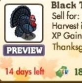 New Thanksgiving FarmVille Animals: Black Turkey, Paint Horse
