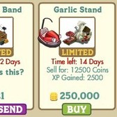 New FarmVille Country Fair Buildings: Festival Band and Garlic Stand