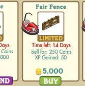 FarmVille New Decorations: Fair Market, UFO Ride, Harvest Table, Pony Ride, &amp; Fair Fence