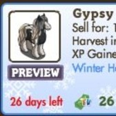 New FarmVille Winter Animal: Gypsy Horse