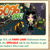 FarmVille: Halloween half-off discount sale ends tomorrow