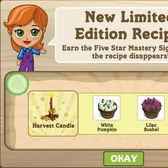 FarmVille Thanksgiving Crafting Recipes available for a limited time