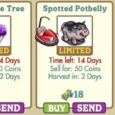 New FarmVille Country Fair Items: Snow Cone Tree & Spotted Potbelly