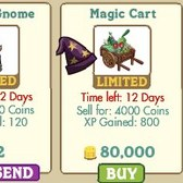 FarmVille Agricultural Alchemy Decorations: Long Eared Owl, Wizard Gnome, & Magic Cart
