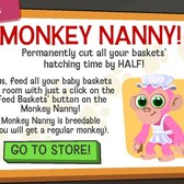 Happy Pets Monkey Nanny will take care of your Baby Baskets for you