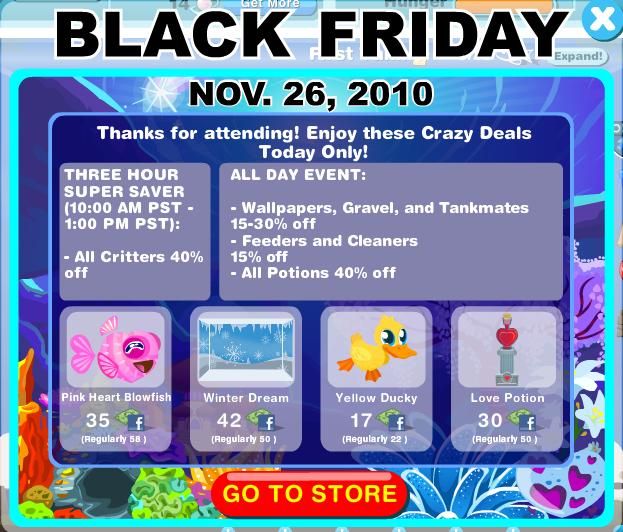 Happy Aquarium Black Friday