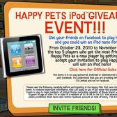 CrowdStar, Happy Pets giving away iPods, spread the word (literally)