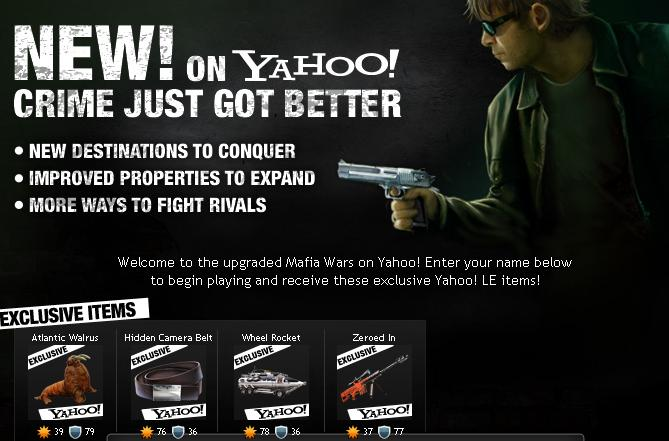 Mafia Wars on Yahoo