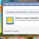 Facebook Credits 'Pay Later' Option: Virtual goods on layaway?