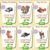 Treasure Isle: New limited time fall themed animals