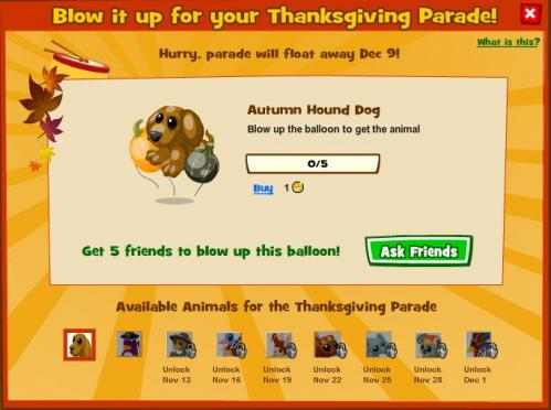 Zoo World Thanksgiving Parade