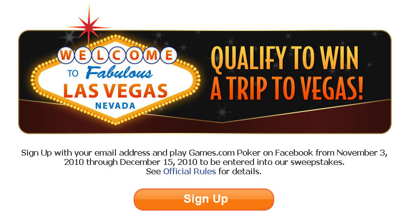 Qualify to win a FREE trip to Las Vegas