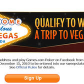 Win a Trip to Las Vegas by Playing Games.com Poker on Facebook
