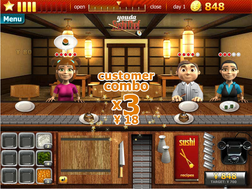 Cute Game of the day: Youda Sushi Chef