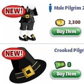 YoVille Thanksgiving costumes will make your avatar say