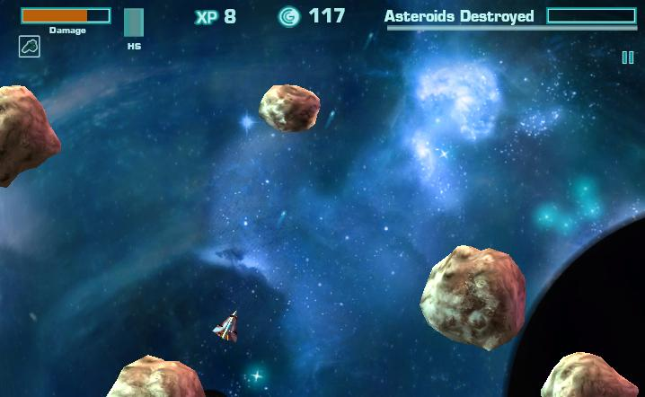 Atari and asteroids blast onto facebook with asteroids online for Space blast 3d