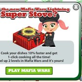 Cafe World: Level up in Mafia Wars for a free Lightning Stove