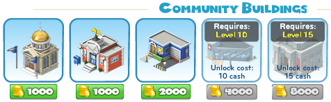 CityVille Community Buildings