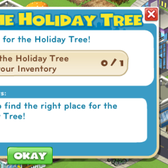 CityVille: Two new goals offer a free Holiday Tree