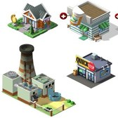 CityVille Sneak Peek: Bank, Pharmacy, Factory, Quick Stop, Gas Station