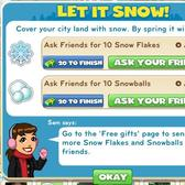 CityVille Let it Snow Goals blanket your town in frosty flakes