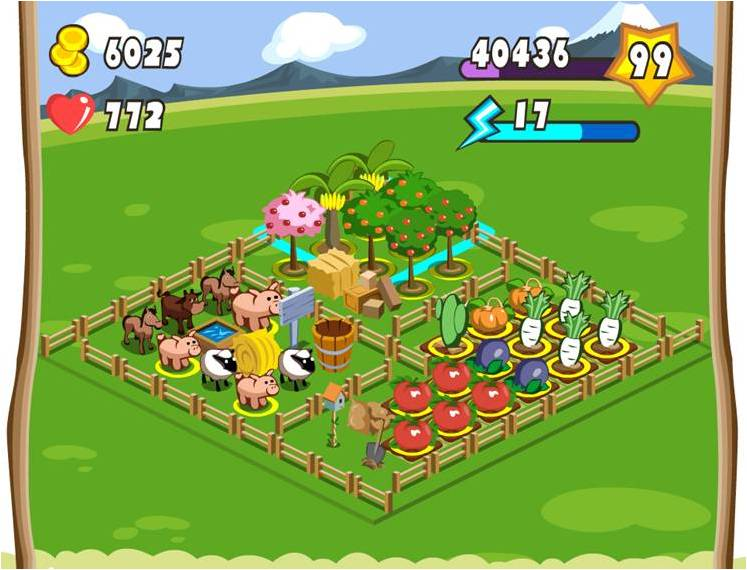 FarmVillage on Mixi