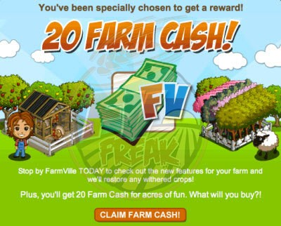 farmville free farm cash for fallen farmers