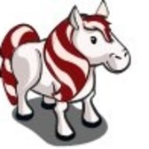 New FarmVille Animals: Candy Cane Pony & Candy Cane Foal