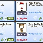 FarmVille Holiday Avatar Costumes: Elf, Miss Santa, Penguin, Teddy Bears, & Ski Bunny
