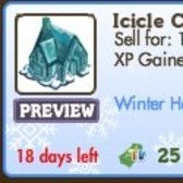 FarmVille Icicle Cottage is hot and cold at the same time