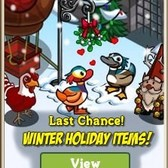 FarmVille Winter Holiday items: Candy Cane Chicken, Winter Castle, Reindeer Balloon & More