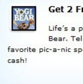 Earn 2 free FarmVille Farm Cash in Yogi Bear promotion