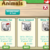FarmVille for iPhone Exclusive Holiday Cat and Elf Leopard appear