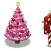 FrontierVille Sneak Peek: Winter Holiday Pink Tree, Happy Holidays Sign, & Sad 'Lil Tree