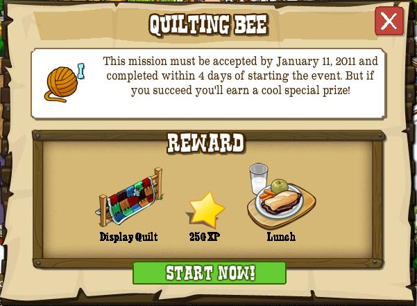 Quilting Bee Timed Mission