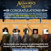 Lord of the Rings arrives on Facebook with Aragorn's Quest advergame