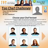 Top Chef Challenge on Facebook: Please pack your knives and go