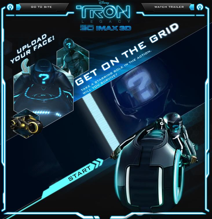 Tron Legacy App in actin
