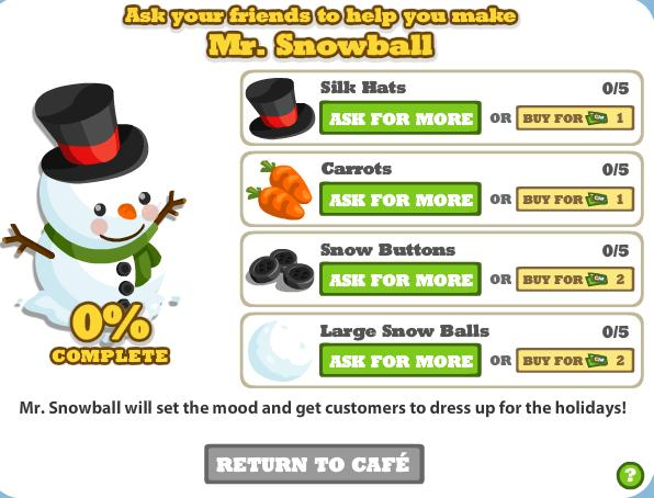 cafe world cheats mr snowman links