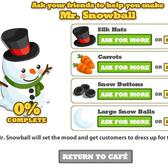 Cafe World Cheats and Tips: Mr. Snowball gifting links