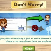 FarmVille: Wall posts now only show to active farmers, so post away!