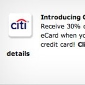 FarmVille introduces Citibank Citi Specials promotion - 30% off $50 Zynga eCard