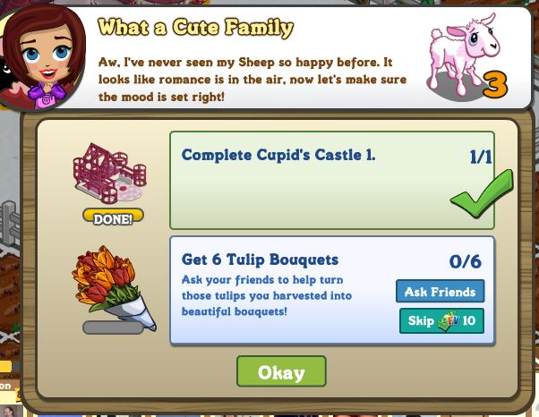 farmville valentine's day missions cute family