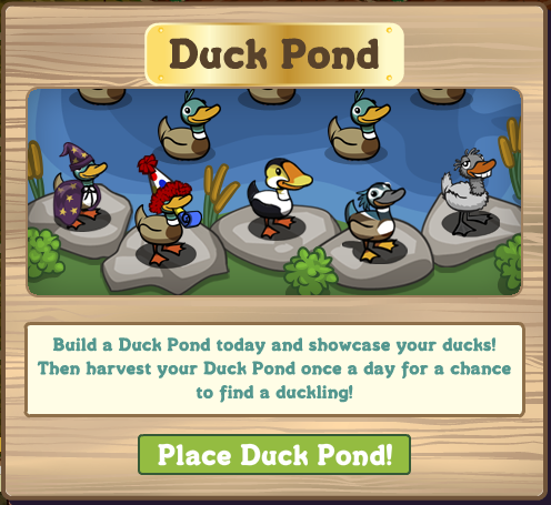farmville duck pond