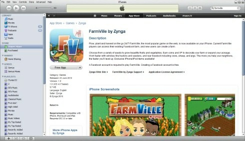 FarmVille in the App Store