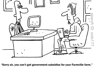 FarmVille subsidies cartoon